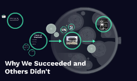 Why We Succeeded and Others Didn't