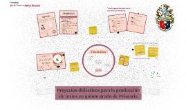 Proyectos didácticos para la producción de textos en quinto