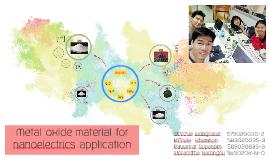Metal oxide material for nanoelectrics application