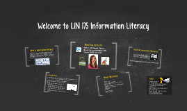 LIN 175 First Day Online