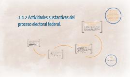 1.4.2 Actividades sustantivas del proceso electoral federal.
