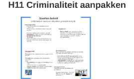 H11 Criminaliteit aanpakken 4BB