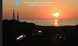 Arbeidet med Energi og klimaplan i Norges minste kommune