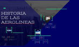 HISTORIA DE LAS AEROLINEAS