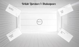 British Literature 1: Shakespeare