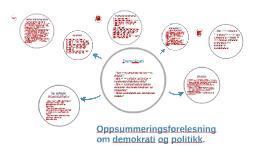 Oppsummeringsforelesning: Demokrati