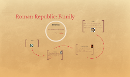 Roman Republic: Family
