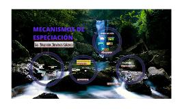 MECANISMOS DE ESPECIACION