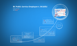 BC Public Service Employee v. BCGSEU