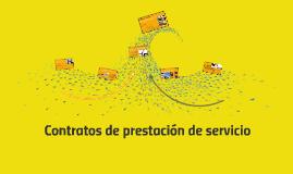Contratos de prestación de servicio