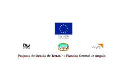 Projecto de Gestão de Terras no Planalto Central de Angola
