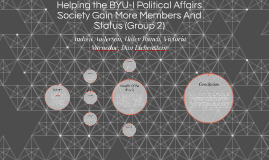 Helping the BYU-I Political Affairs Society Gain More Member