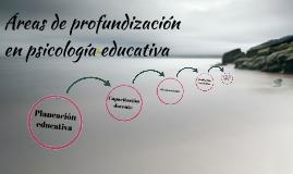 Áreas de profundización en psicología educativa