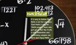 Math is for all!