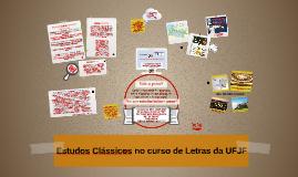 Estudos Clássicos no curso de Letras da UFJF