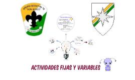 Actividades fijas y variables