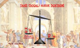 Hukuk Felsefesi III- Doğal Hukuk-Natural Law
