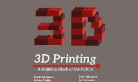 3D Printing GESTIONALE UNIPA