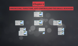 ORGINIZING, DIRECTING, AND CONTROLLING THE SMALL BUSINESS