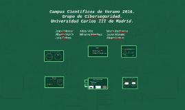 Campus científicos de verano 2016. Grupo de ciberseguridad