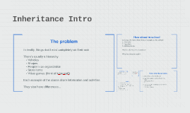 Inheritance Intro