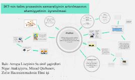 IKT-nin təlim prosesinin