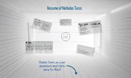 Resume of Nickolas Turco