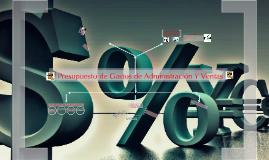 Copy of PRESUPUESTO DE GASTOS DE ADMINISTRACIÓN Y VENTAS