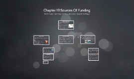 Sources Of Funding