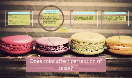 Copy of Does color affect perception of taste?