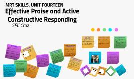 Effective Praise & Active Constructive Responding