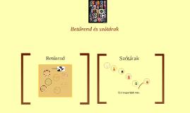 Betűrend és szótárak