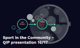 Sport in the Community - QIP presentation 16/17
