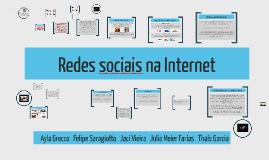 Copy of Redes sociais na internet