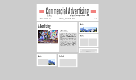 Commercial advertising and classified ads