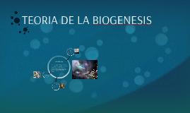 Teoria de la Biogenesis