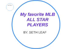 My favorite MLB ALL STAR PLAYERS