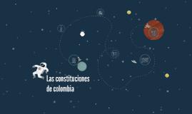 Las constituciones de colombia