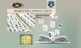 MODELO EDUCATIVO EN CHINA