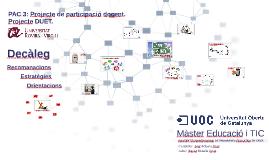 PAC 3: Projecte de participació docent