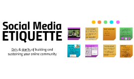 Social Media Etiquette by ArFB