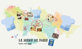 LE MENU DE PARIS