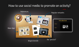 How to use social media to promote an activity?