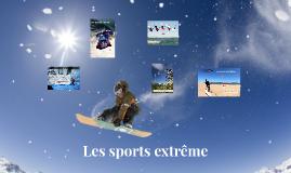 Les sports extrême