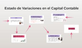 Estado de Variaciones en el Capital Contable