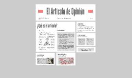 Copy of Copy of El Artículo de Opinión