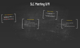 SLC Meeting 11/14