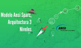 Modelo Ansi Park, Arquitectura 3 Niveles