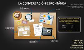 LA CONVERSACIÓN ESPONTÁNEA