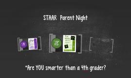 STAAR Parent Night